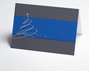 Weihnachtskarte 150389-101 Schwungbaum blau