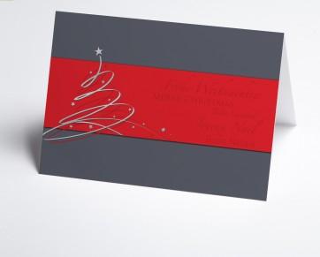 Weihnachtskarte 150390-100 Schwungbaum rot