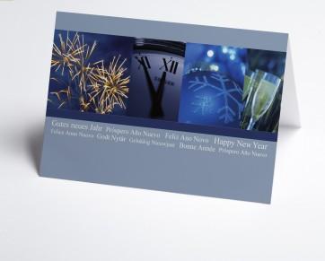 Neujahrskarte 150391-112 Feuerwerk