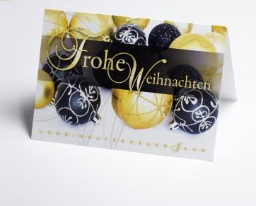Weihnachtskarte 150396-112 Kugelschmuck