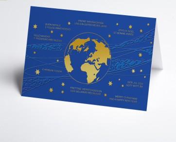 Weihnachtskarte 150397-112 Weltkugel
