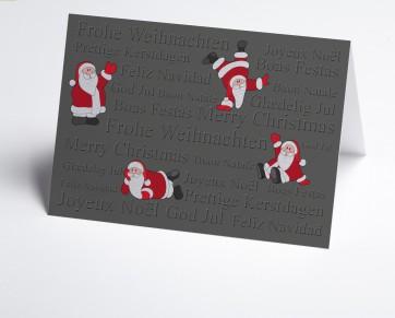Weihnachtskarte 150399-112 lustige Weihnachtsmänner