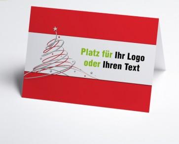 Logo-Weihnachtskarte 150406-100 roter Schwungbaum