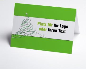 Logo-Weihnachtskarte 150407-102 grün Schwungbaum