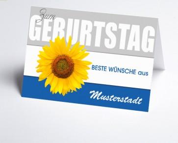 Grüße aus... Glückwunschkarte 150862-113 Sonnenblume