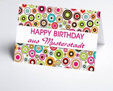 Grüße aus... Glückwunschkarte 150868-113 abstrakte Kreise