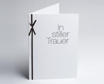 Trauerkarte 150884-112 Schleife: In stiller Trauer.
