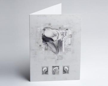 Trauerkarte 150889-112 gezeichnete Calla.
