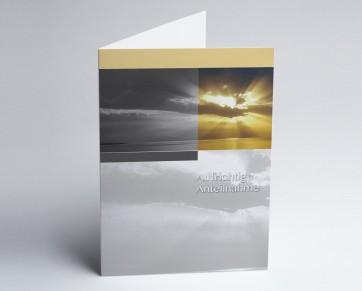Trauerkarte 150896-112 Sonnenuntergang : Aufrichtige Anteilnahme