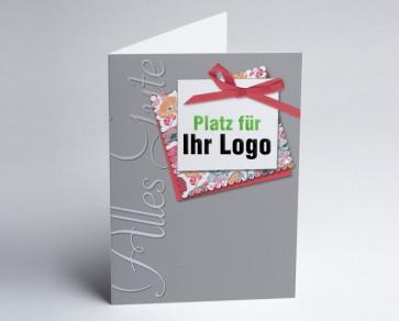 Logo-Grusskarte 150904-104 alles Gute, grau