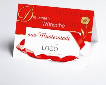 Grüße aus... Glückwunschkarte 150909-113 international rot