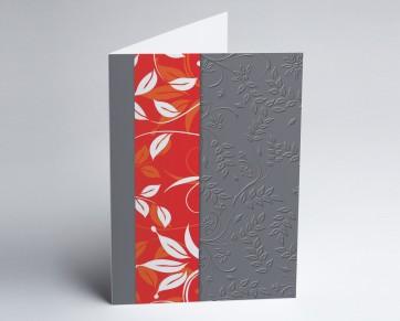 Grusskarte 150920-100 Blätter rot.