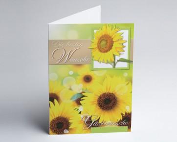 Grusskarte 150929-112 Sonnenblumen.