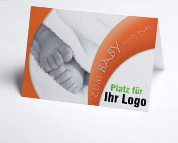 Logo-Grusskarte 150950-112 Babykarte