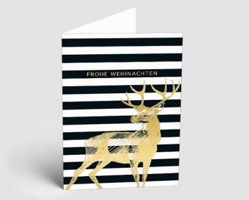 Weihnachtskarte 1518302 grafischer Hirsch
