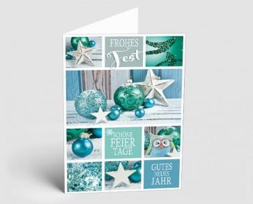 Weihnachtskarte 1518305 glitzernde Festtage