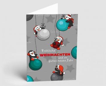Weihnachtskarte 1518306 lustige Pinguine