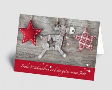 Weihnachtskarte 1518307 Holz-Elch