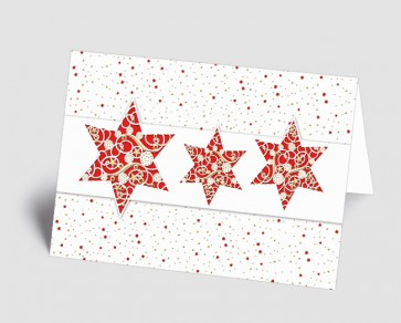 Weihnachtskarte 1518310 filigrane rote Sterne