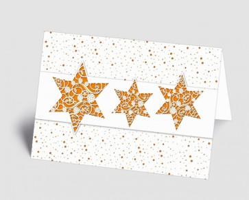 Weihnachtskarte 1518311 filigrane orange Sterne