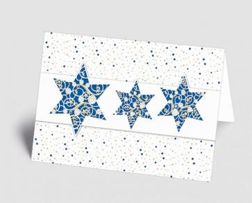 Weihnachtskarte 1518313 filigrane blaue Sterne