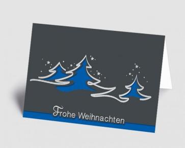 Weihnachtskarte 1518316 abstrakte blaue Bäume