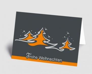 Weihnachtskarte 1518318 abstrakte orange Bäume