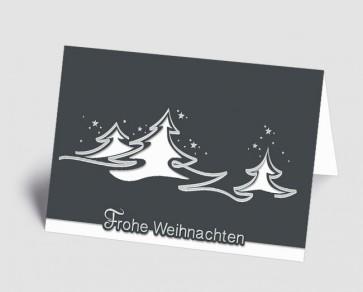 Weihnachtskarte 1518319 abstrakte weiße Bäume