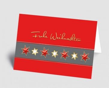 Weihnachtskarte 1518321 Sternenband rot
