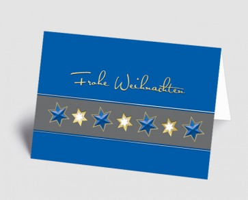 Weihnachtskarte 1518323 Sternenband blau