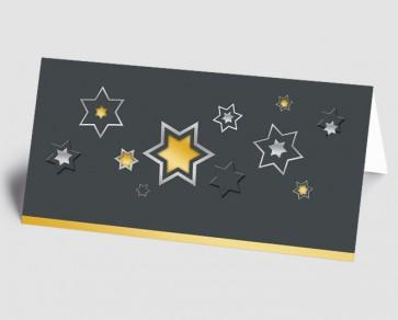 Weihnachtskarte 1518338 grafische Sterne, gold