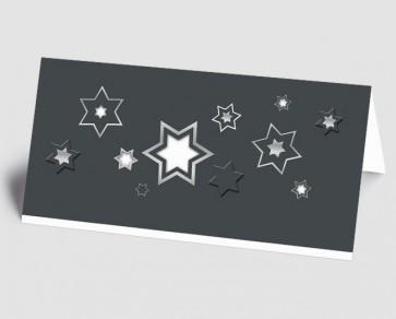 Weihnachtskarte 1518339 grafische Sterne, weiß