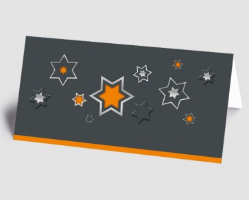 Weihnachtskarte 1518340 grafische Sterne, orange
