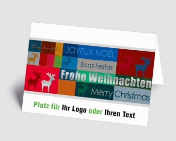 Logo-Weihnachtskarte 1518400 international, bunt