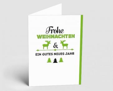 Weihnachtskarte 1518407 Vintage Line: Typo grün