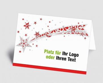Logo-Weihnachtskarte 1518411 Sternschnuppe, rot