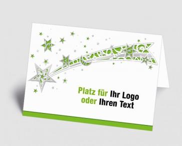 Logo-Weihnachtskarte 1518413 Sternschnuppe, grün