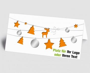 Logo-Weihnachtskarte 1518420 orange Weihnachtselemente