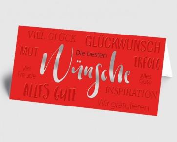Grusskarte 1519121 Moderne Typografie rot