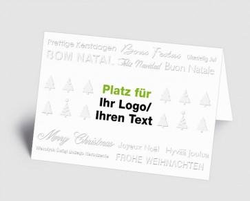 Logo-Weihnachtskarte 1519401 Typo-Art international, weiß
