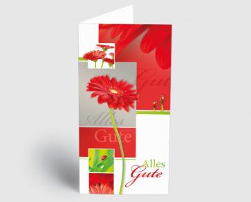 Grusskarte 1520115 Rote Gerbera