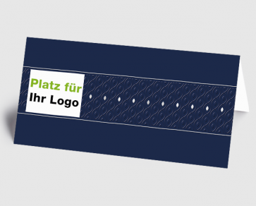 Logo-Grusskarte 1520202 Grafik blau