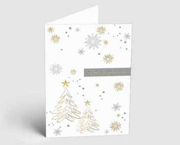 Weihnachtskarte 1520301 Weihnachtsglanz gold-silber