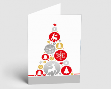 Weihnachtskarte 1520302 grafische Elemente