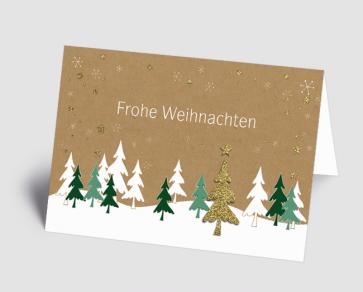 Weihnachtskarte 1520304 Weihnachtswald