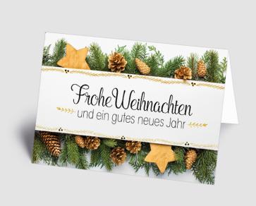 Weihnachtskarte 1520305 Weihnachtsgesteck