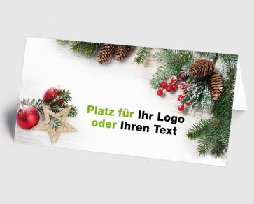Logo-Weihnachtskarte 1520403 Weihnachtsgesteck