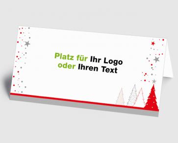 Logo-Weihnachtskarte 1520404 roter Zauberwald
