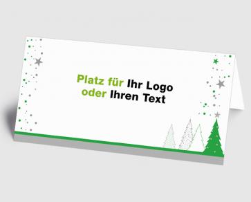 Logo-Weihnachtskarte 1520407 grüner Zauberwald