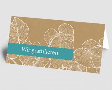 Grusskarte 1521114 Tropical Design